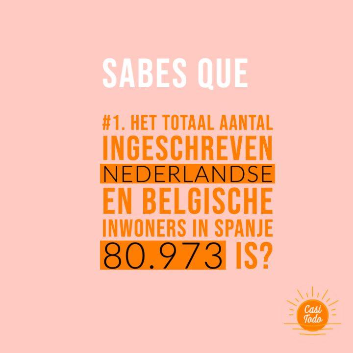 Hoeveel ingeschreven Nederlanders en Belgen zijn er in Spanje?